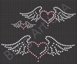 rhinestone template with wings rhinestone files templates