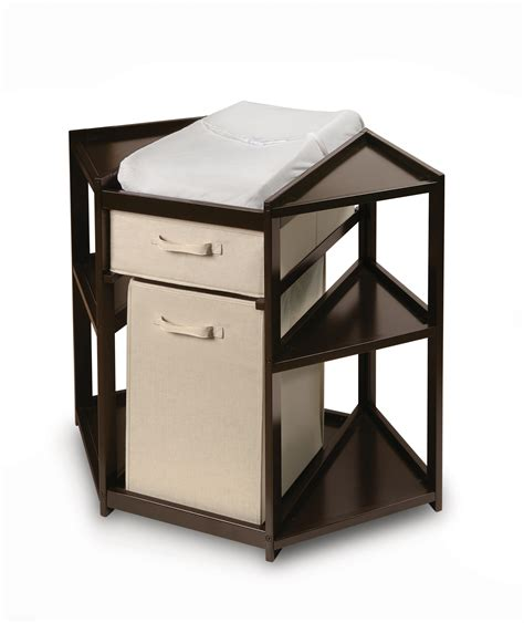 Corner Change Table Espresso Corner Changing Table With Her And Basket Ojcommerce