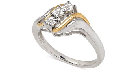 macy s accent ring in 14k gold and sterling silver