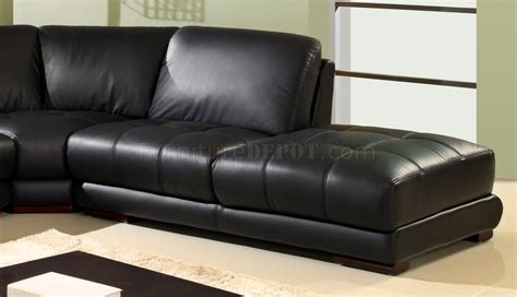 wooden sectional sofa black bonded leather modern sectional sofa w wooden legs