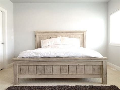 do it yourself bed frame king farmhouse bed do it yourself home projects from ana