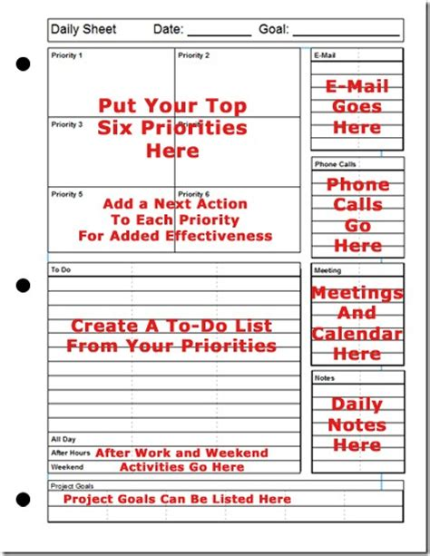 Do You Count Calendar Days For Fmla Printable Daily Planner The Top Six Strategy For Success