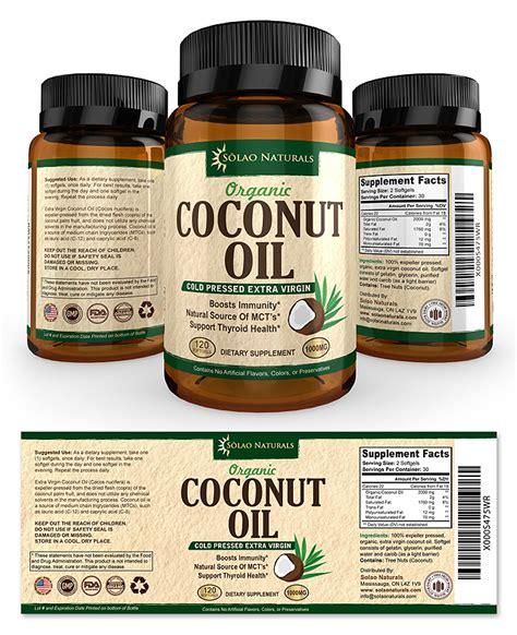 Virgin Coconut Oil Supplement Label Template Supplement Label Template