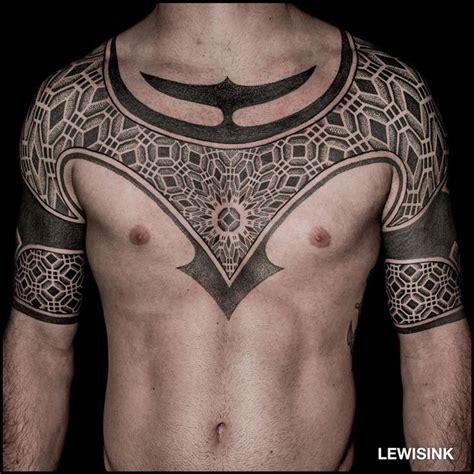 chest cover up tattoos for men geometric cover up http tattooideas247 geometric