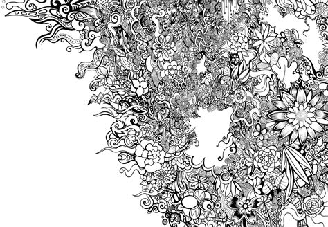 white pattern drawing black and white floral pattern by zyari on deviantart