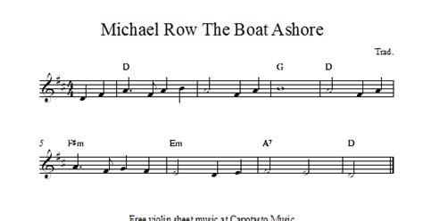 michael row the boat ashore free sheet music free easy violin sheet music michael row the boat ashore
