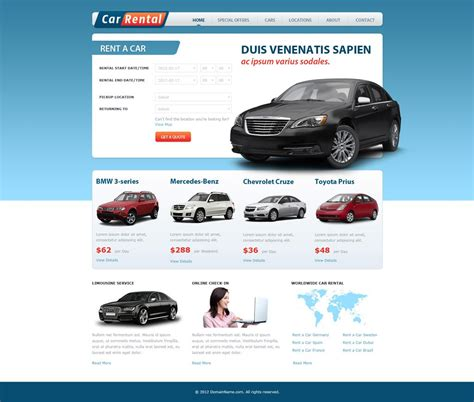Free Car Rental Website Template Car Rental Template Phpjabbers Car Website Design Templates