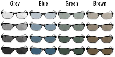 lightly tinted non prescription glasses tinted lenses colors for glasses and sunglasses