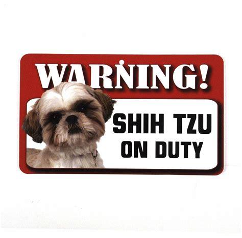 shih tzu signs warning sign beware shih tzu pink cat shop