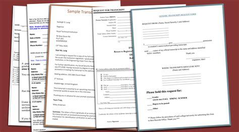 transcript request form template 6 printable transcript request templates
