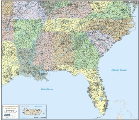 map of southeast usa southeastern united states southeast u s