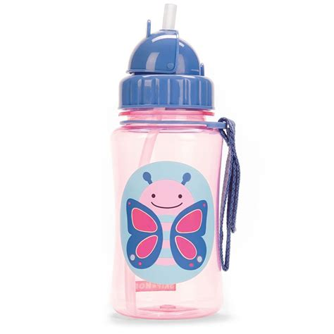 skip hop zoo straw water bottle butterfly pupsik singapore