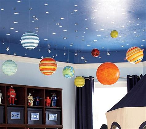 jumbo hanging planets pottery barn each planet has 9 of clear string for