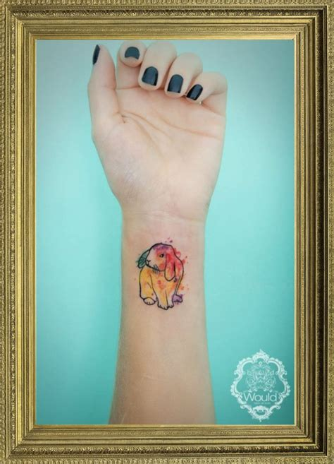 bunny watercolor tattoo rabbits tattoos ideas