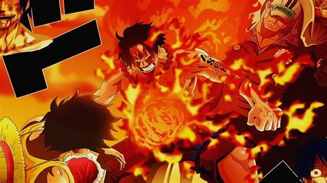 strawhat pirates monkey d luffy portgas ace wallpaper