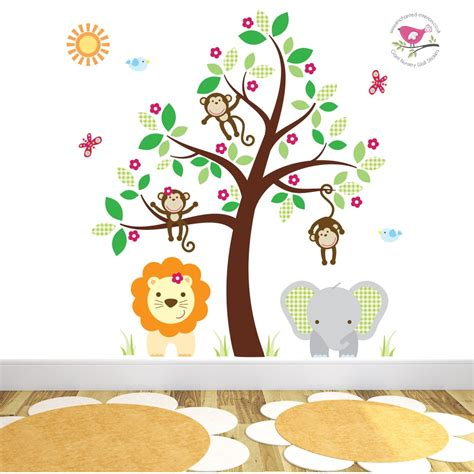 wall stickers jungle jungle wall stickers for a baby nursery room