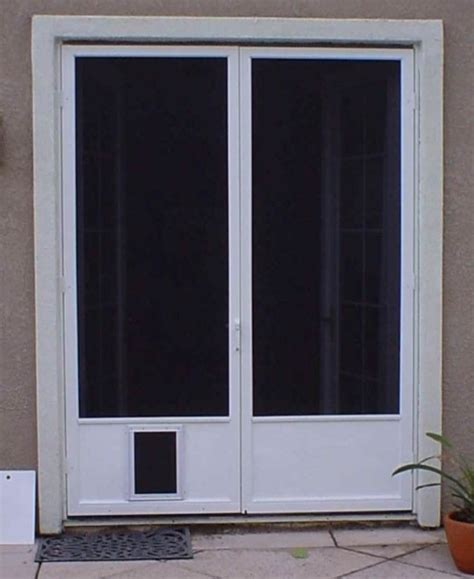 screen door with pet door styles and design to improve