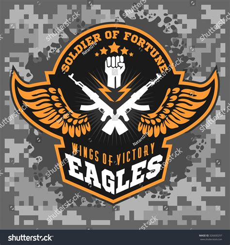 military design elements 25 vector eagle wings military label badges design stock vector