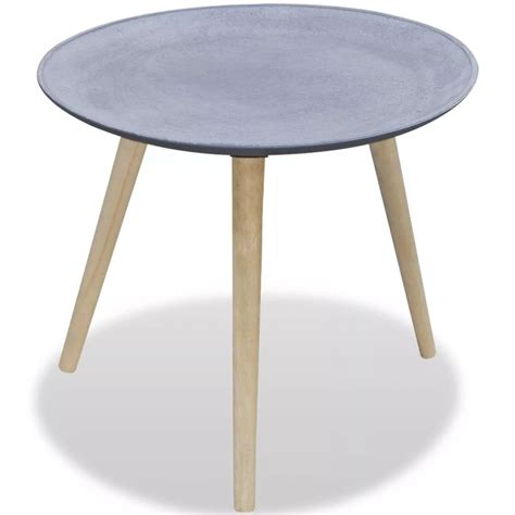 round gray coffee table vidaxl co uk round side table coffee table grey concrete