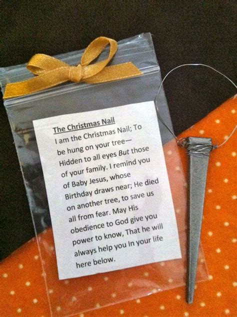 the christmas nail ornament 3 quot long w description and