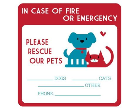Aufkleber Feuerwehr Tiere by Two Emergency Pet Rescue Decals Free Shipping Lover Cat