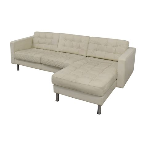 used leather sofa prices 69 off ikea ikea landskrona leather sectional sofas