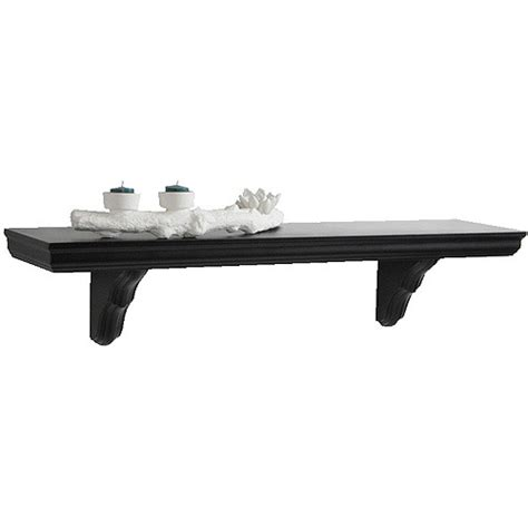 wall shelves walmart 35 4 quot classic bracketed wall shelf black walmart