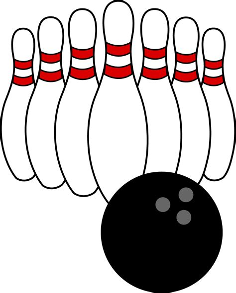 bowling clipart bowling and pins free clip