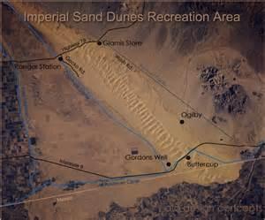 california sand dunes map isdra sand dune guide
