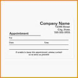 Appointment Card Template Word 12 Appointment Cards Template Letter Template Word