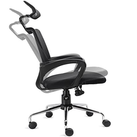 ergonomic office chair with adjustable lumbar support recline ergonomic mesh office chair w lumbar support and