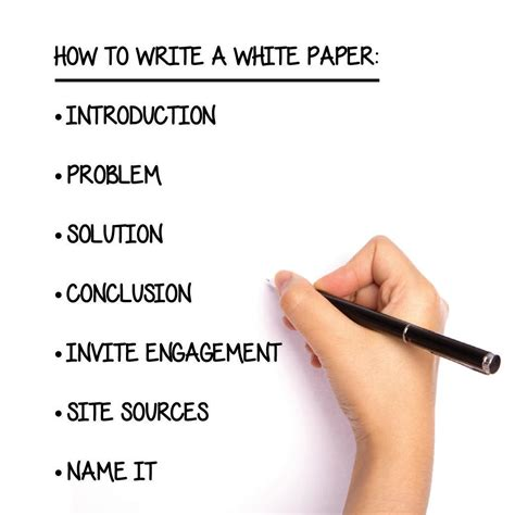 writing a paper how to write a white paper step by step guide