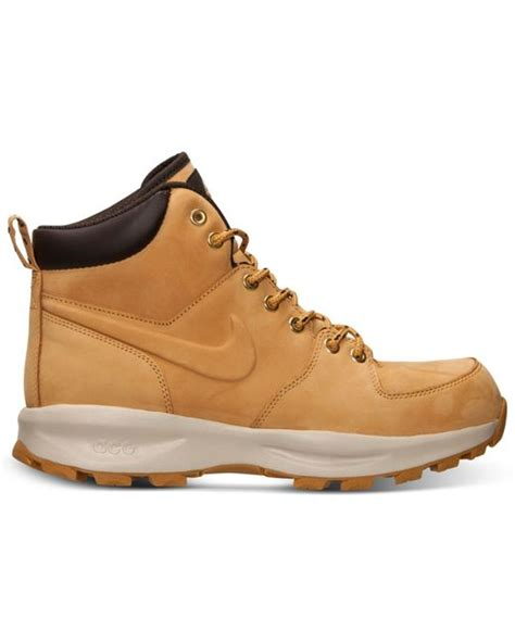 nike s manoa leather boots from finish line in beige