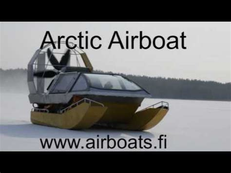 air up boat airboat on ice youtube