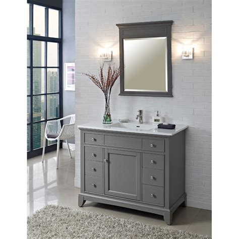 42 vanities for bathrooms fairmont designs 42 quot smithfield vanity medium gray