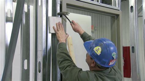 install  steel door frame  steel stud
