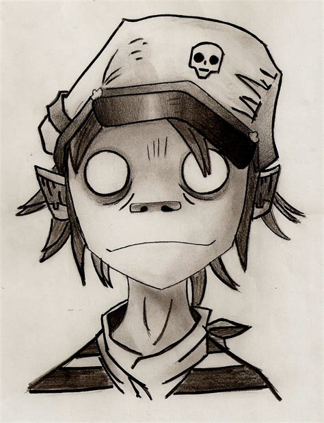 2d sketch gorillaz 2d by lightning lund on deviantart