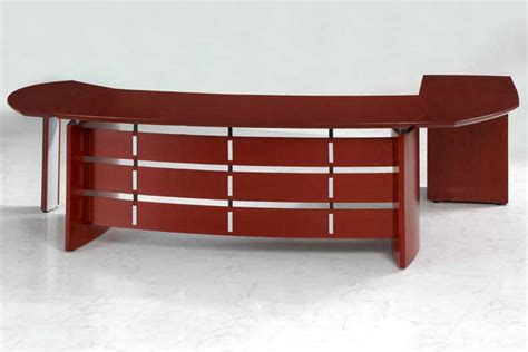 New Contemporary Cherry Wood Executive Office Desk Oval Ebay Cherry Wood Office Desk