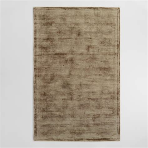 Viscose Area Rug Taupe Tufted Viscose Gable Area Rug World Market