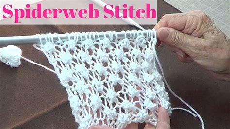 webb knitting spiderweb stitch