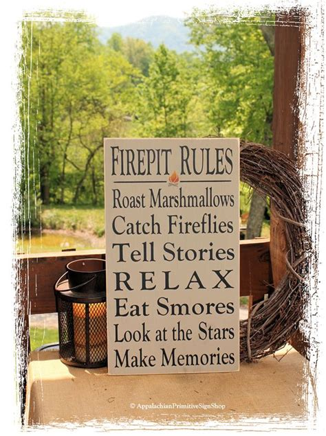 firepit signs firepit sign typography wood sign outdoor decor