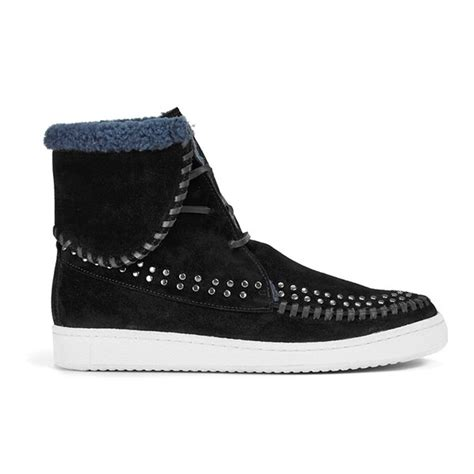 Sepatu Kickers Chuky Black Suede Casual Formal Sneakers Promo Grosir thakoon addition s warwick 03 suede lace up ankle boots black suede studs free uk delivery