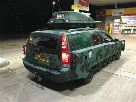 buy  tank converted volvo  carscoops