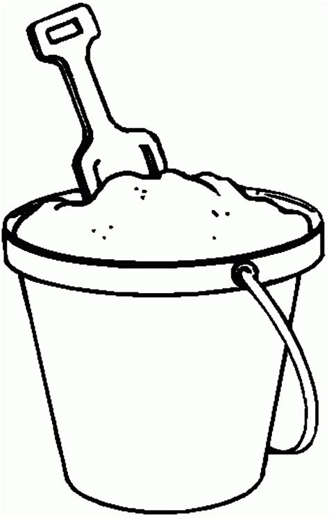 bucket filling coloring pages az coloring pages