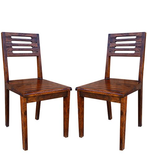 Colonial Dining Chairs San Jose Solid Wood Set Of Two Dining Chair In Provincial Teak Finish By Woodsworth By