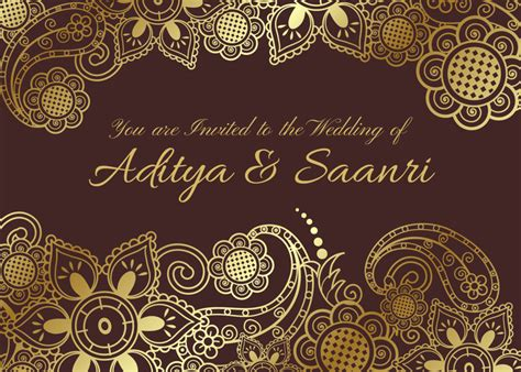 indian wedding banner vector vector golden indian wedding card free vector