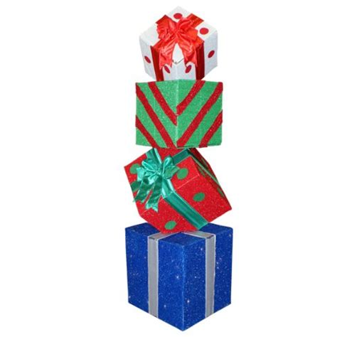 discount deals 60 quot lighted multi color animated gift box