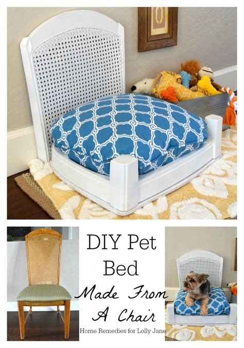 diy dog r for bed diy pet bed made from a chair