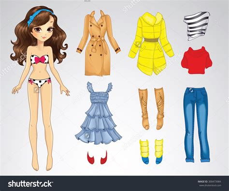 How To Make Paper Dolls At Home - paper doll clothes clipart 79