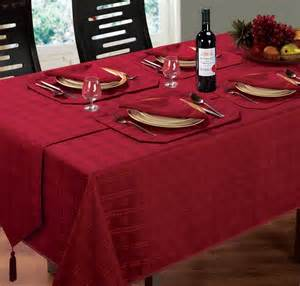 Dining Table Linens Uk Jacquard Dining Tablecloth Oblong Square Burgundy